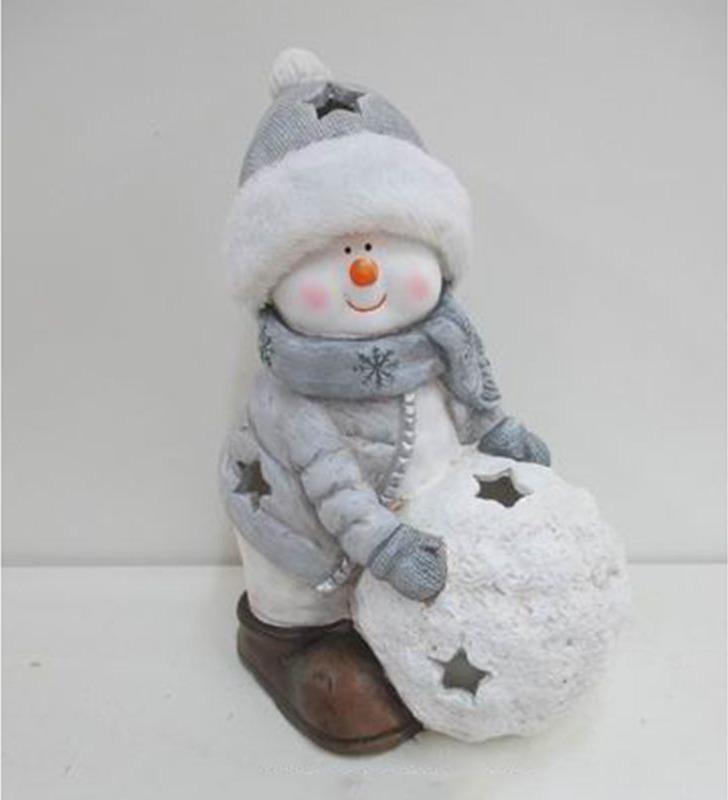 Sněhulák na čajovou svíčku 24x15x34cm