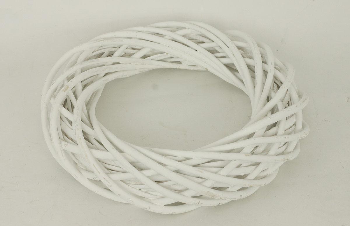 Proutěný věnec 20x5cm Barva: bílá