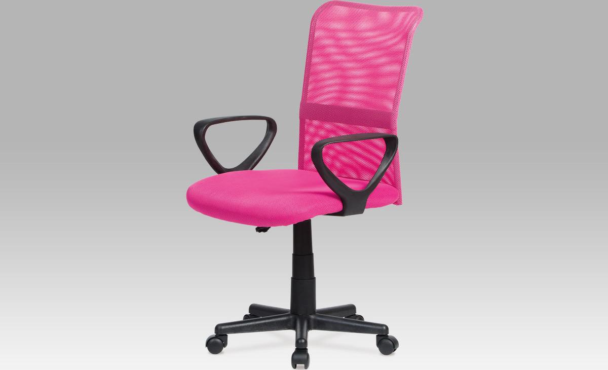 Kancelářská židle   mesh   výškově nastavitelná Barva: růžová