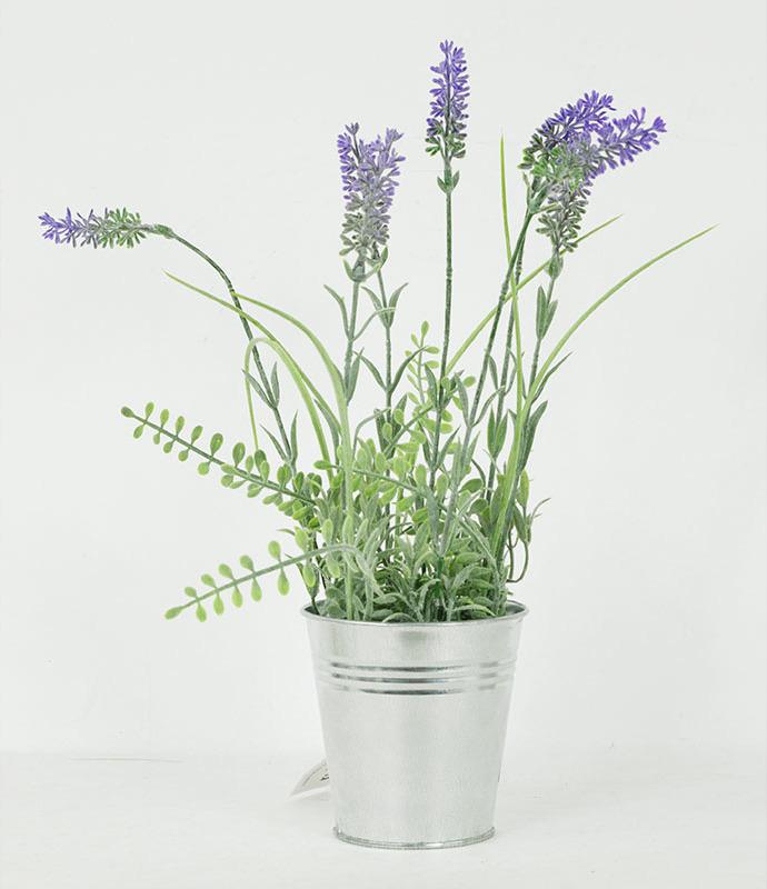Artium Umělá květina levadule v kovovém obalu