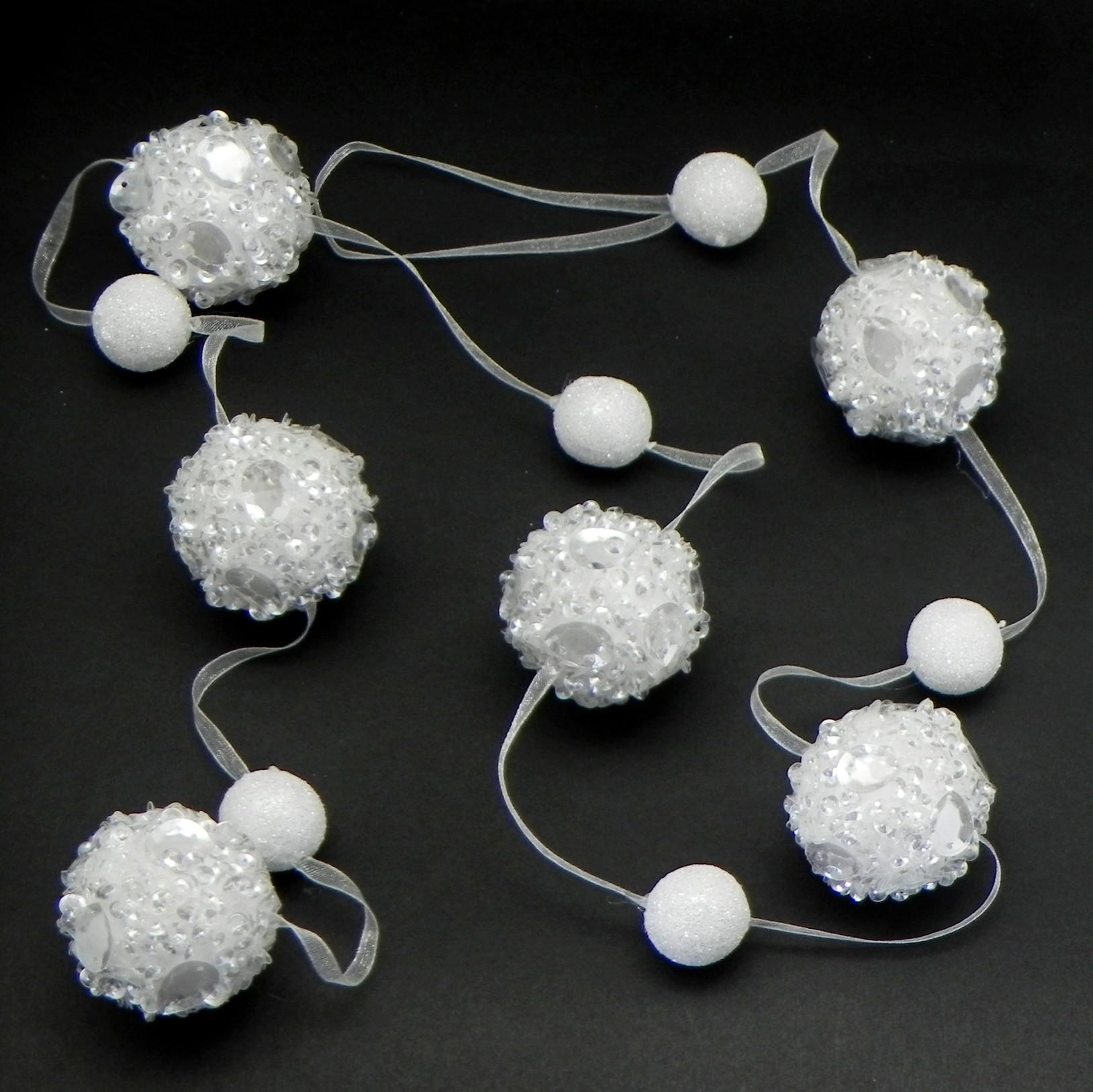 Girlanda koule polystyrén 120cm