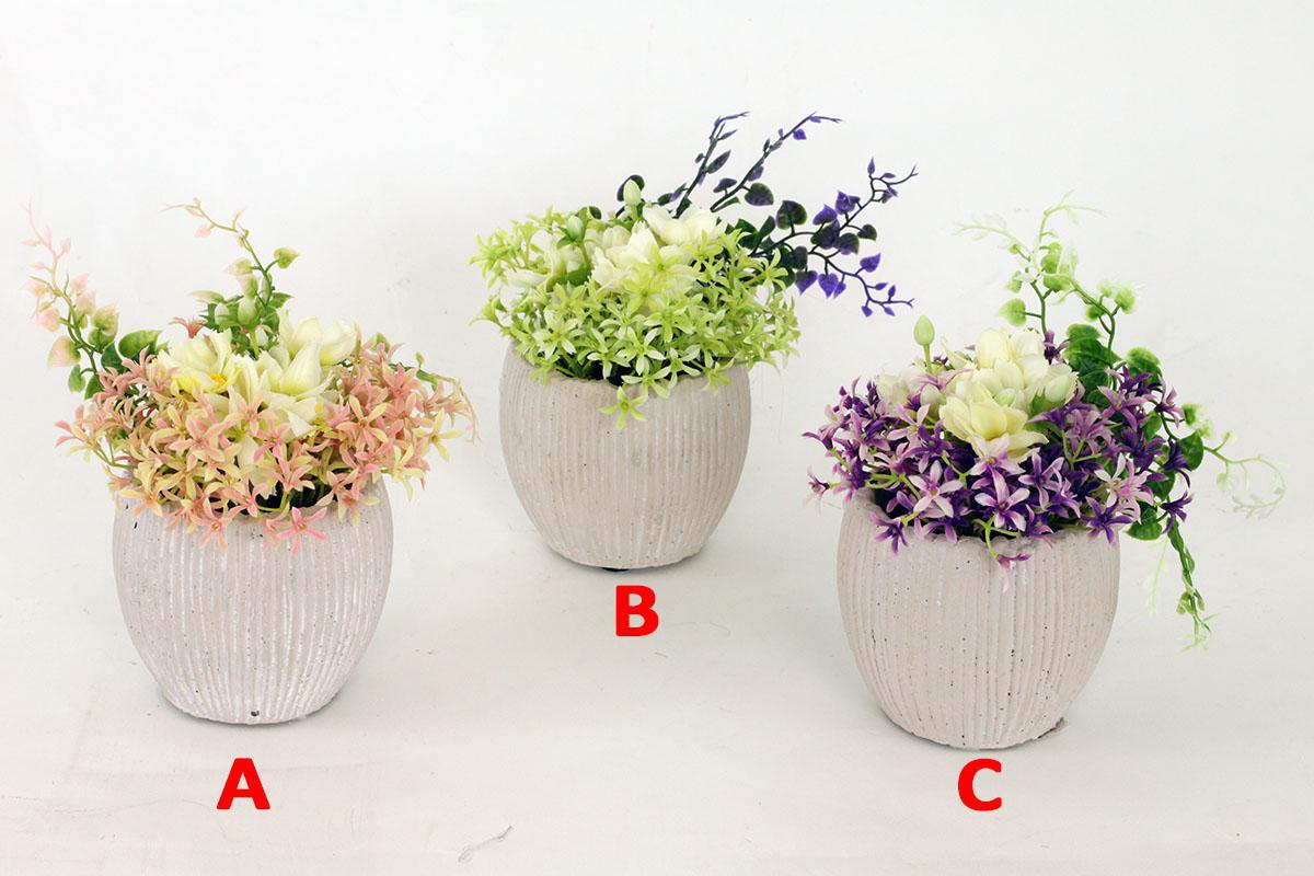 Artium Umělé květy v betonovém obalu Provedení: A