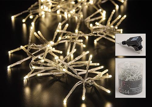 LED vánoční girlanda - řetěz 144 ks světel
