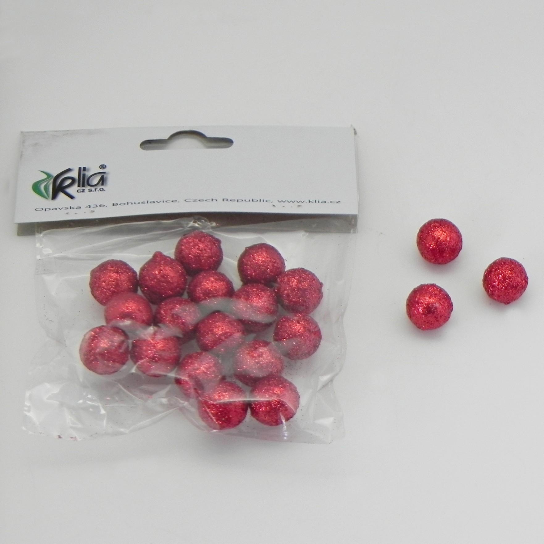Vánoční koule přízdoba set 20ks Barva: červená