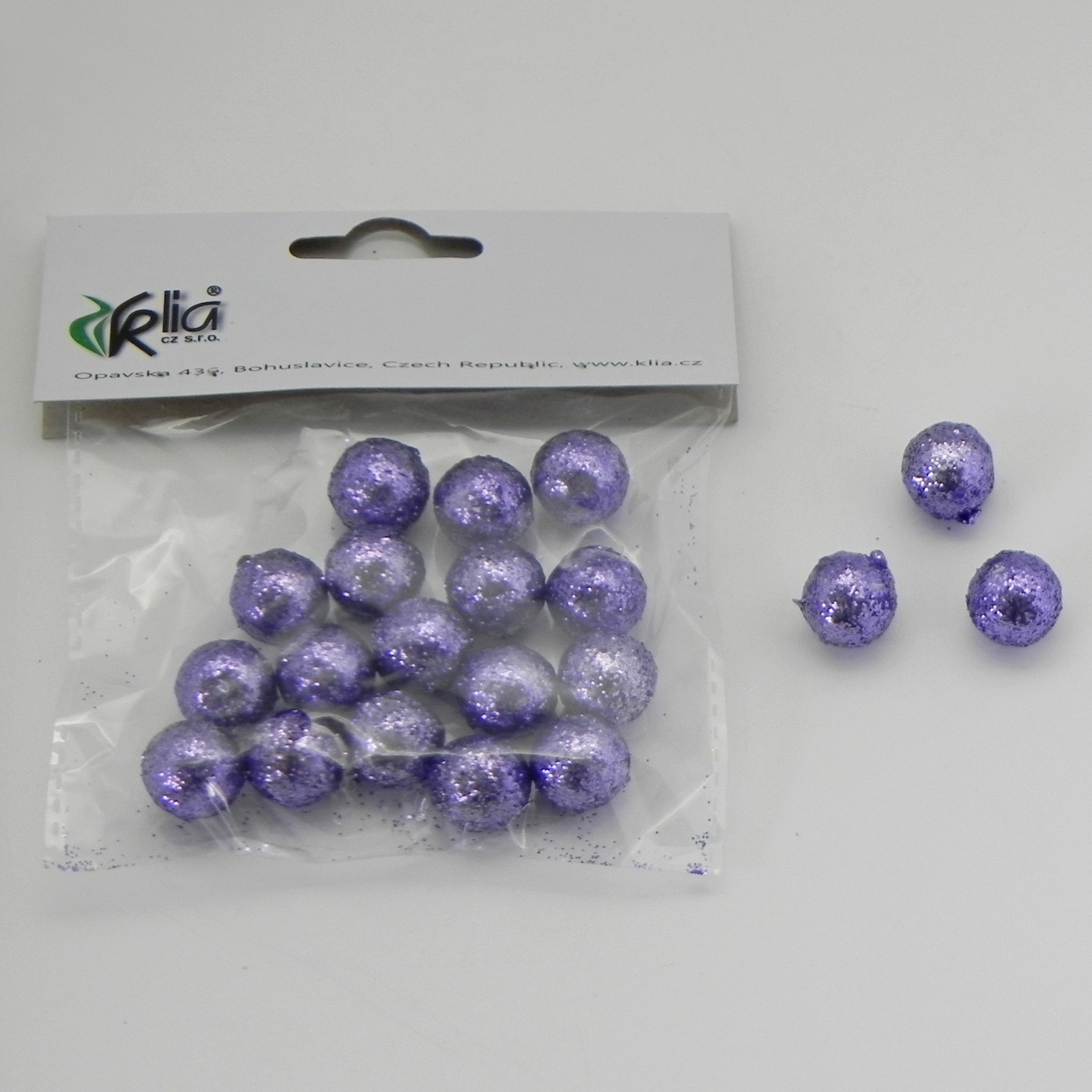 Vánoční koule přízdoba set 20ks Barva: fialová