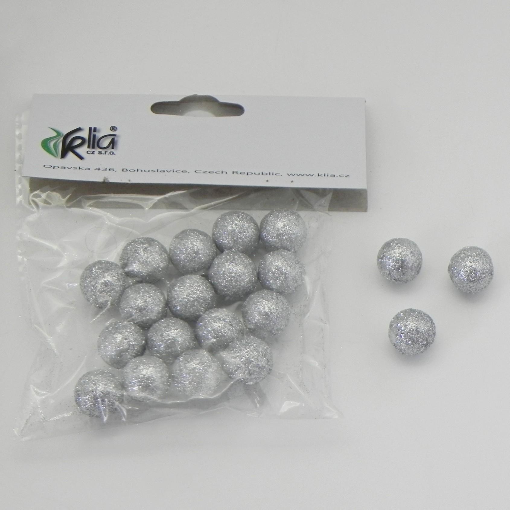 Vánoční koule přízdoba set 20ks Barva: stříbrná