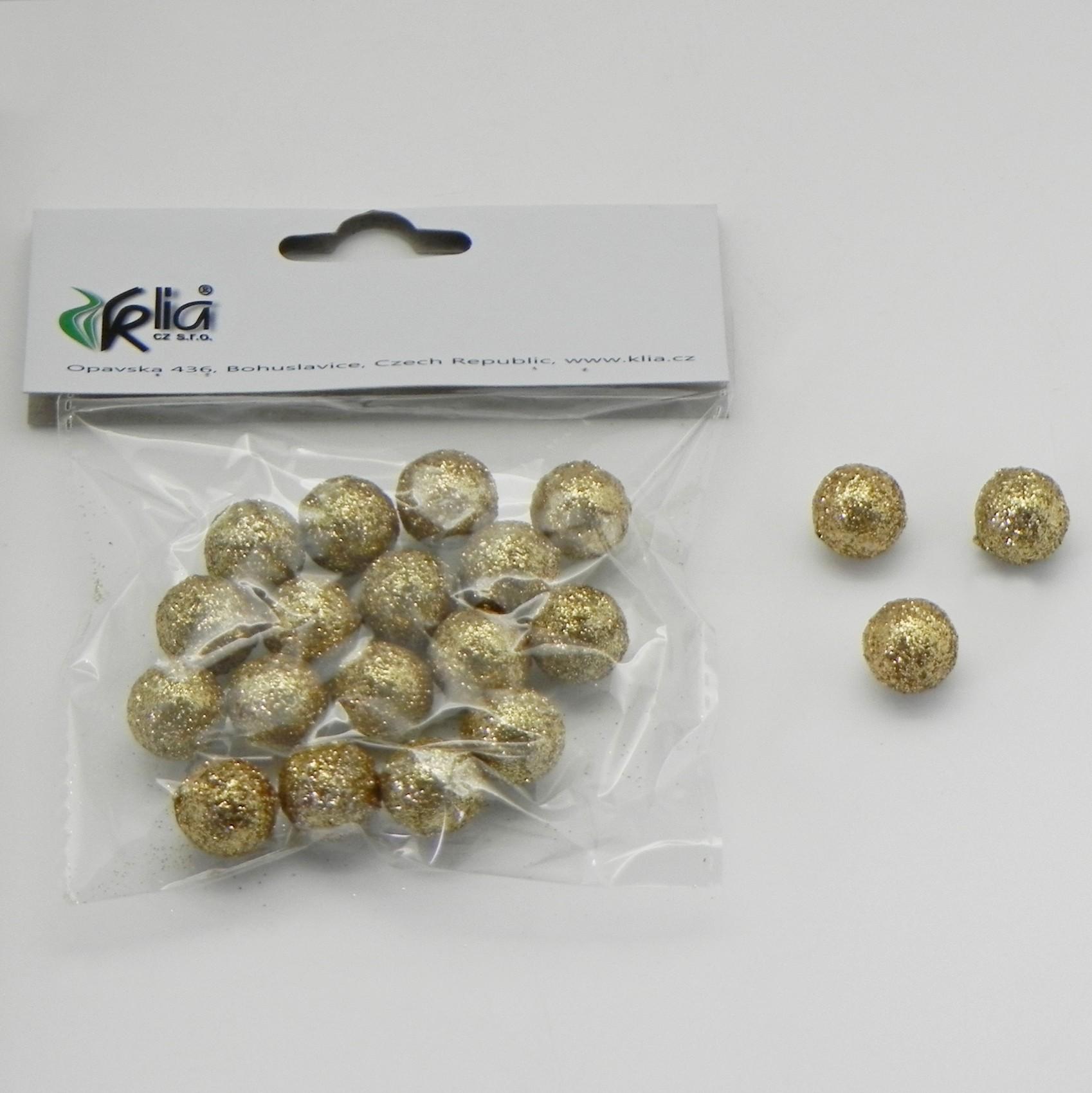 Vánoční koule přízdoba set 20ks Barva: zlatá