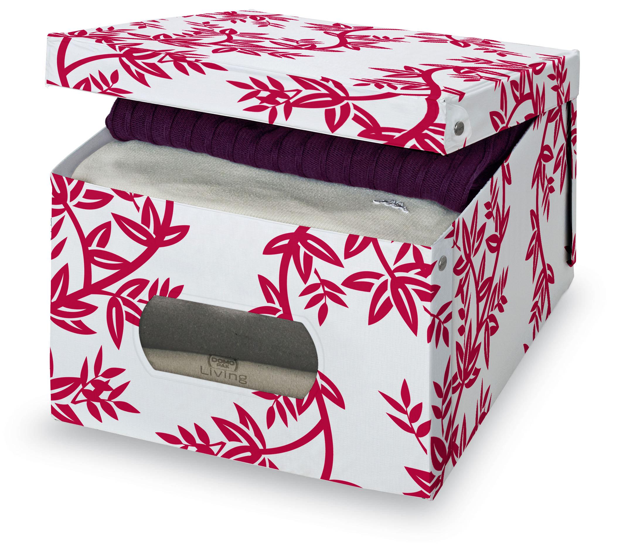 DOMOPAK Living Úložný box s oknem s větvičkami Velikost: větší
