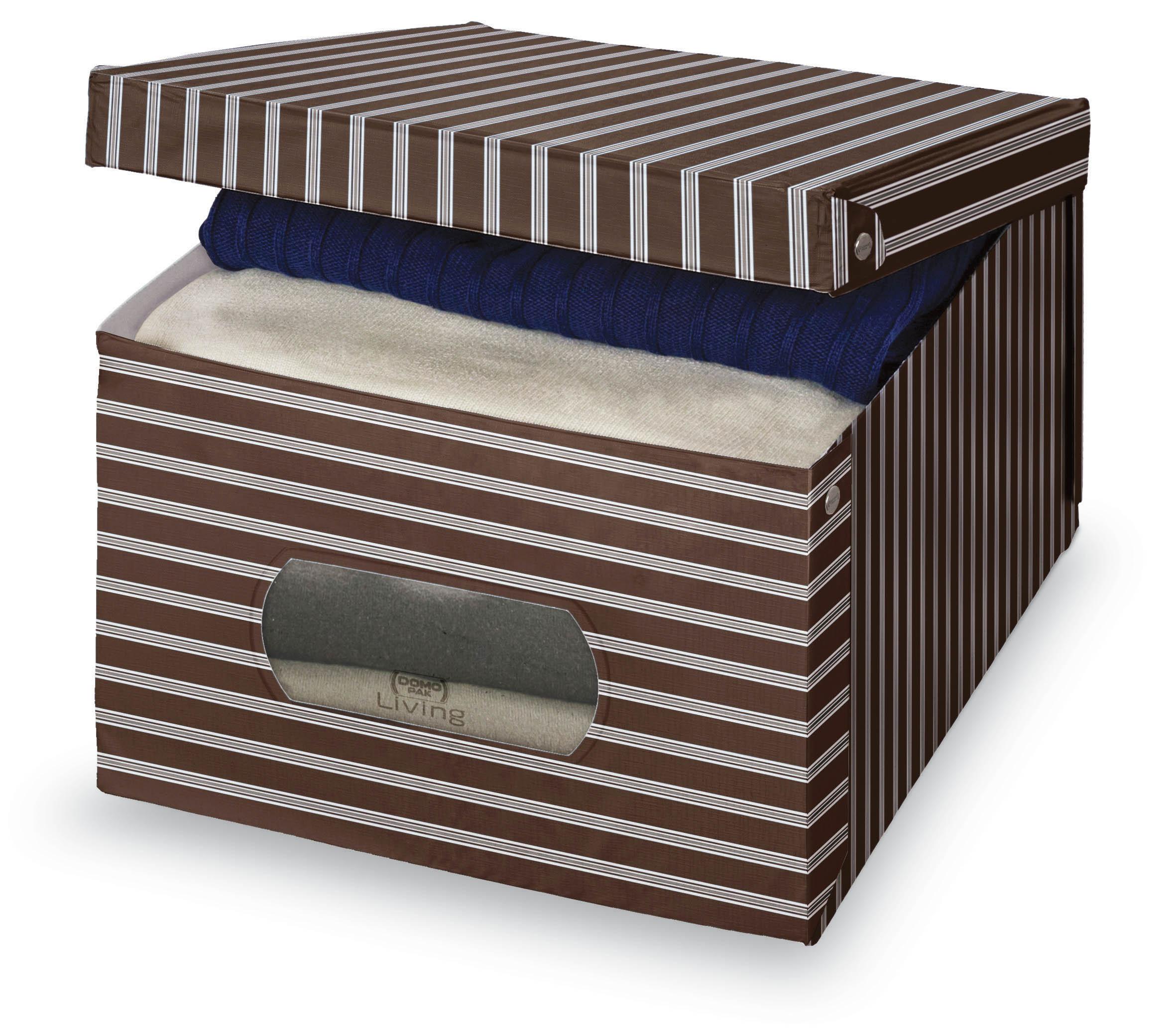 DOMOPAK Living Úložný box s oknem s proužky Velikost: větší