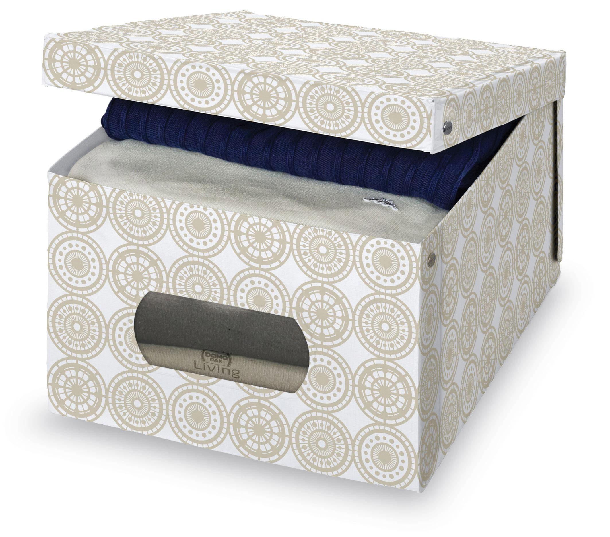DOMOPAK Living Úložný box s oknem s ornamenty Velikost: větší