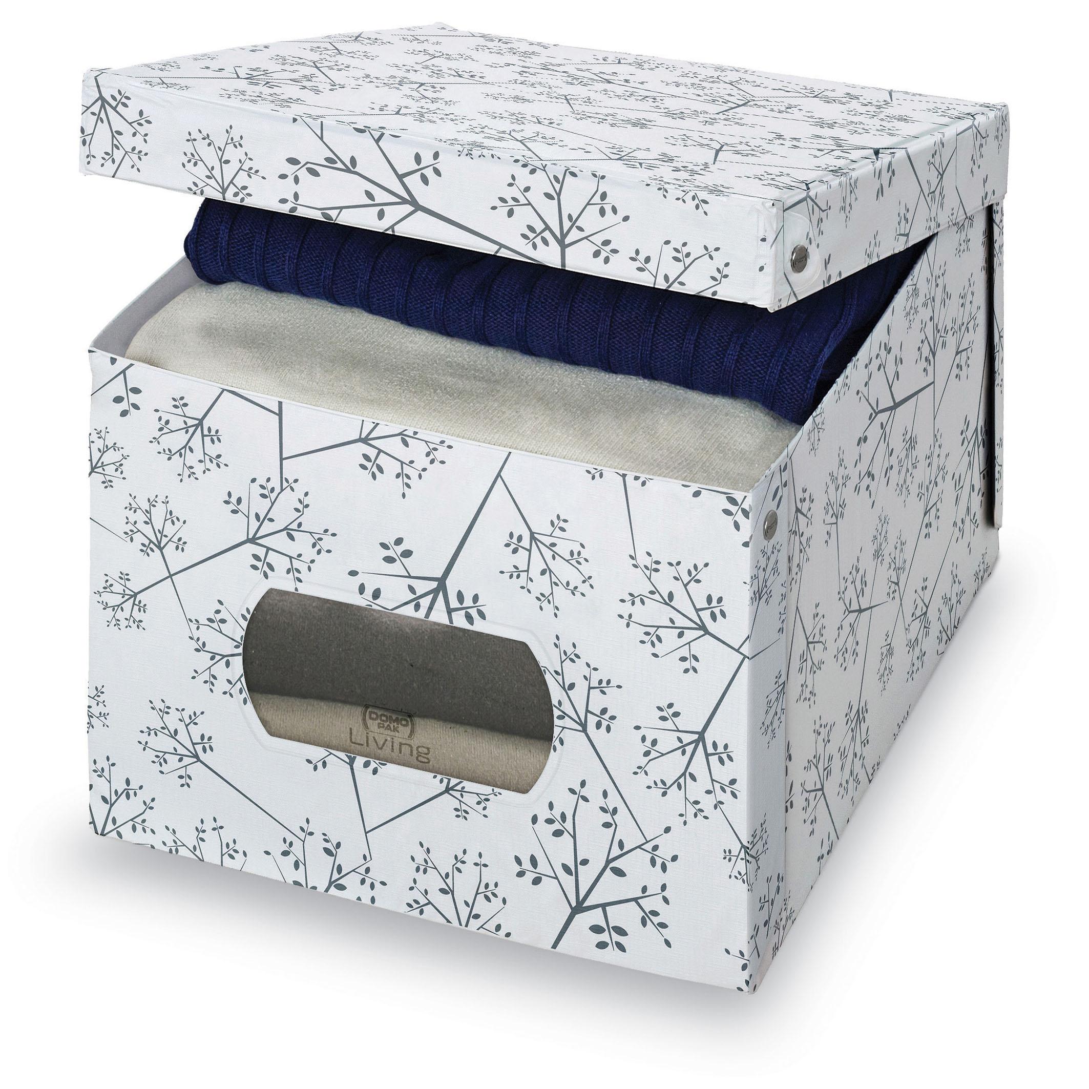 DOMOPAK Living Úložný box s oknem s květinami Velikost: menší