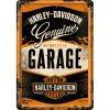 Plechová pohlednice | Harley Davidson Garage | 10x14cm