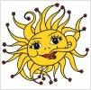 Okenní fólie sluníčko 33x35cm