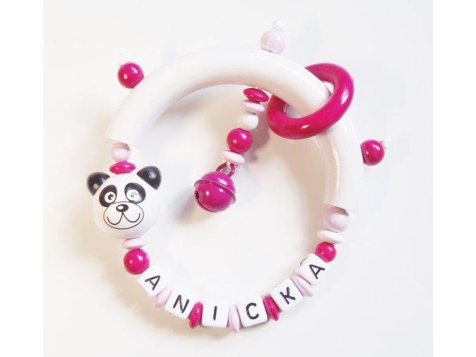 panda chrastitko ruzove