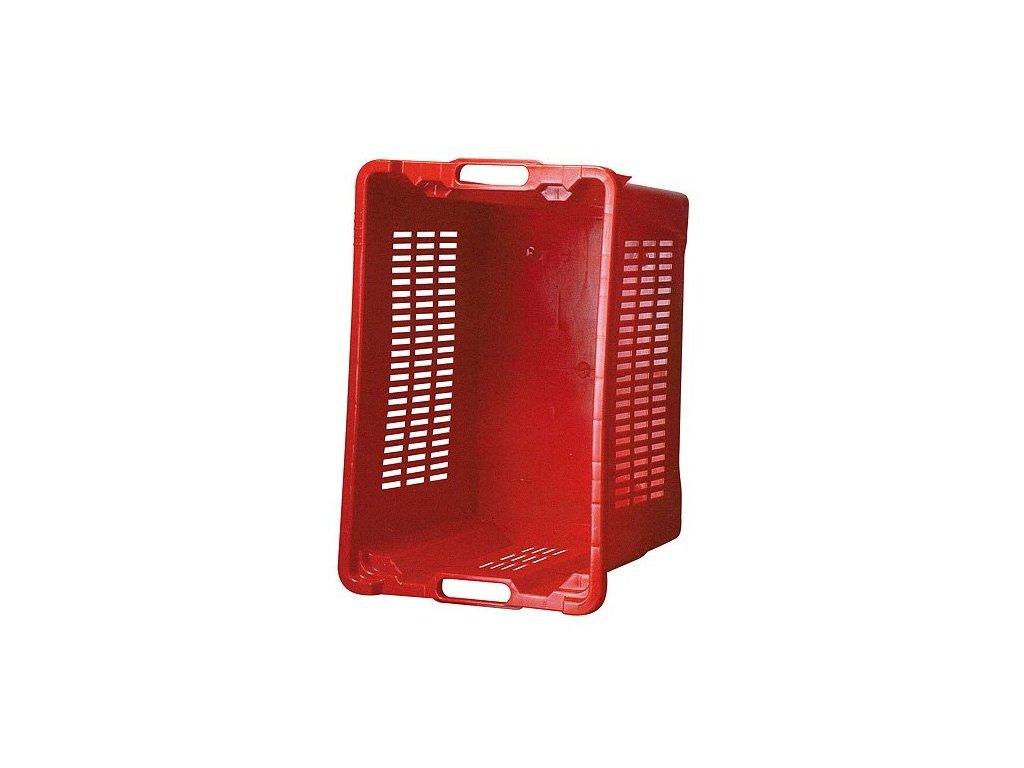 Přepravka ICS M401000. 40 l, 56 x 35 x 31 cm, perforované stěny, červená