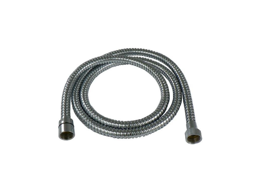 Sprchová hadice kovová-dvouzámková, délka 150cm - chrom