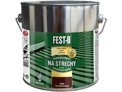 FEST-B S2141, antikorozní nátěr na železo, 0840 červenohnědá, 2,5 kg