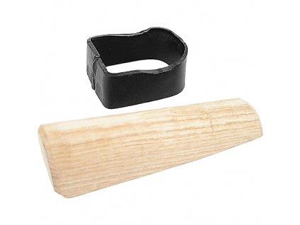 Objímka na kosu Fe s dřevěným klínem