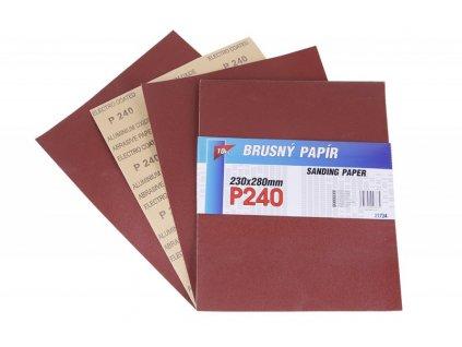 Smirkový papír 230x280mm P240 10ks