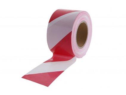 Páska varovací 80mmx250m červenobílá