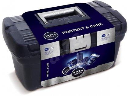 NIVEA MEN Protect/Care (gel na holeni+voda po holení+krém+antiperspirant+sprej)
