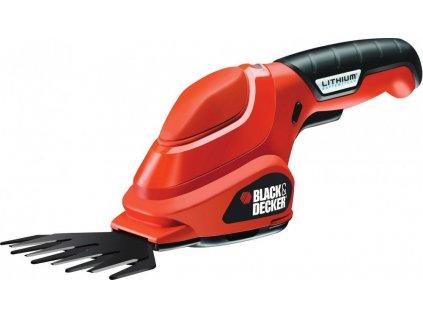 Black/Decker AKU nůžky na trávu 3,6V/1,1Ah Li-Ion, šířka záběru 100mm, GSL200