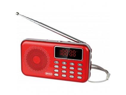 Rádio s digitálním displejem STAR - červené