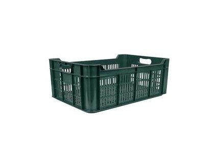 Přepravka na ovoce a zeleninu M20, 48 lit., 20 kg, 600x400x215 mm, perforovaná, PE