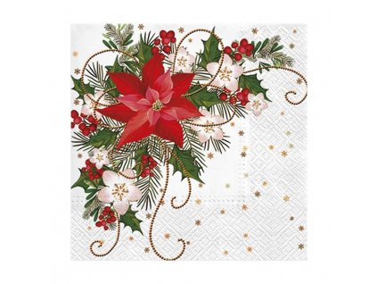 Ubrousky Vánoční 33x33cm 3-vrstvý 20ks/bal.