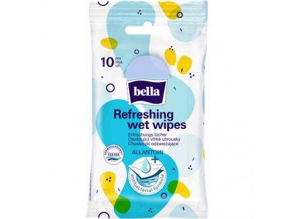 Vlhčené ubrousky antibakteriální 10ks BELLA