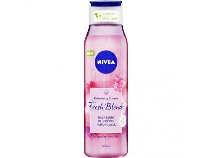 Nivea Fresh Blends Raspberry sprchový gel, 300 ml