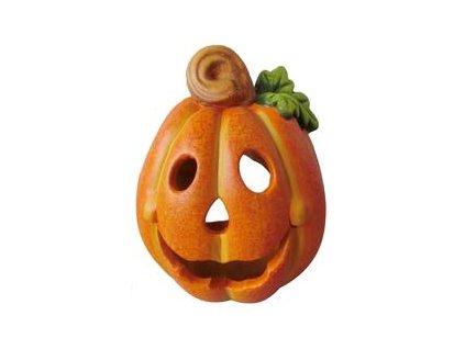Dýně Halloween dekorace, dýně na svíčku,  keramika,13 cm