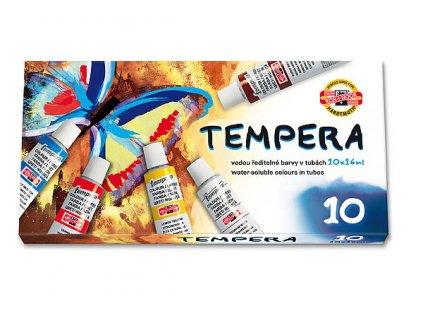 Barvy temperové KOH-I-NOOR 10x16ml barev/sada