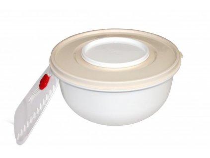 Miska na kynuté těsto 3l + 2 víka