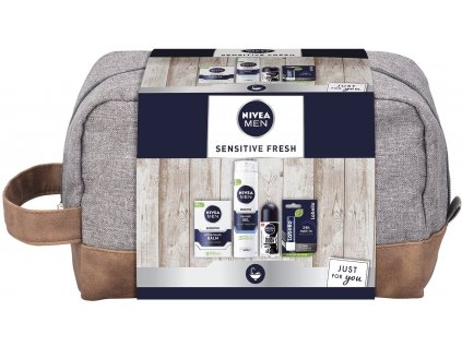 NIVEA Men Bag Sensitive Frech Dárková kosmetická sada pro muže