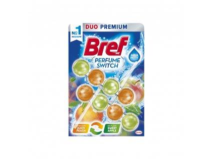 Bref Perfume Switch Peach & Apple WC blok, 2 x 50 g