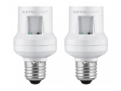 Extol Light Objímka na žárovku dálkově ovládaná, 2ks, max. 60W