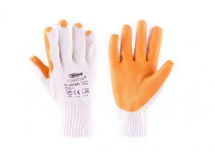 Rukavice SLIPPER velikost č. 9 bílo-oranžové
