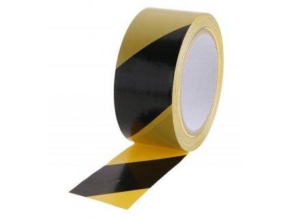 Páska varovací samolepící 48mmx33m černožlutá