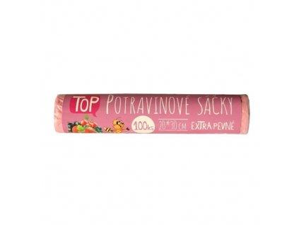 Potravinové sáčky 20x30cm TOP 100ks/role růžové