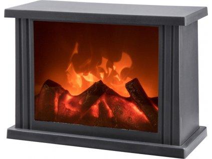 Dekorační krb s LED plápolajícím ohněm EXTOL LIGHT 43400