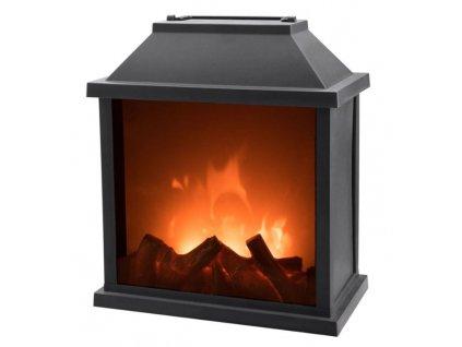 Dekorační krb s LED plápolajícím ohněm EXTOL LIGHT 43401