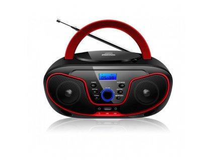 CD rádio digitální B-6037 MT-832, červené