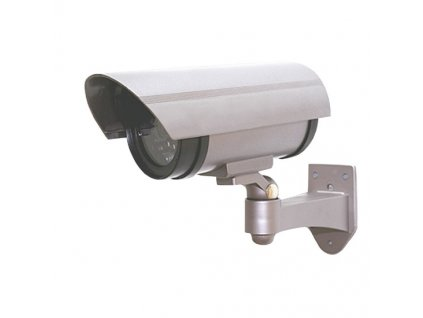 Maketa bezpečnostní kamery, na stěnu, LED dioda, 2 x AA