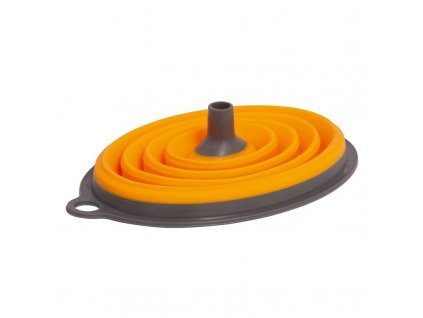 Skládací silikonový trychtýř L630 Qlux Ideas, oranžový