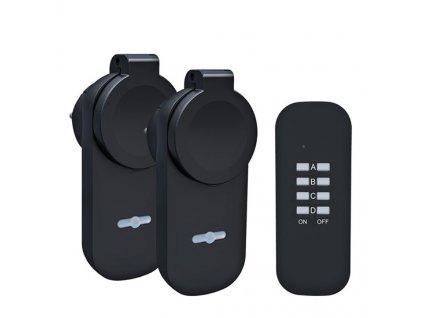Dálkově ovládané venkovní zásuvky set 2 + 1, 2 zásuvky, 1 ovladač, learning code, Solight