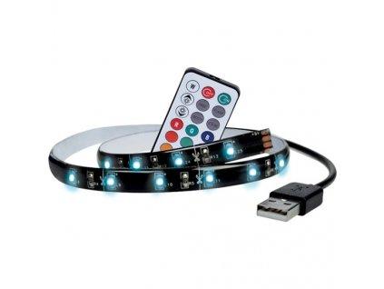 Solight LED RGB pásek pro TV, 2x 50cm, USB, vypínač, dálkový ovladač WM504