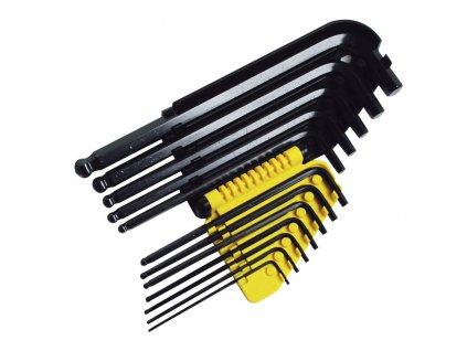 12 dílná sada šestihranných zástrčných klíčů Inbus v palcích