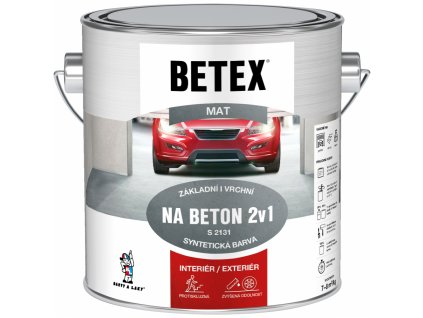 Betex S2131 2v1 základní i vrchní barva na beton 110 šedá, 2 kg