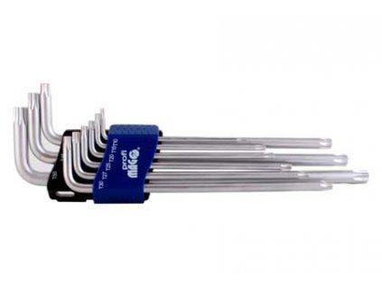 Profi sada 9ks klíčů TRX, prodloužených (T10-50)